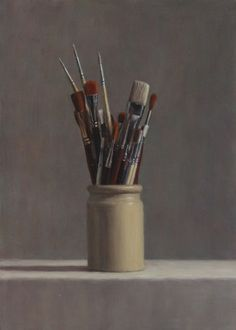 Still Life - Long Brushes by Harry Holland