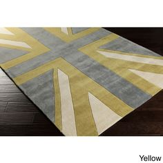 Hand-tufted Union Jack Novelty Contemporary Area Rug (5' x 8') - Overstock Shopping - Great Deals on 5x8 - 6x9 Rugs
