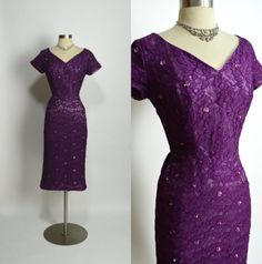 NORMAN ORIGINAL 1950's Vintage Plum Purple by RubyFayesVintage