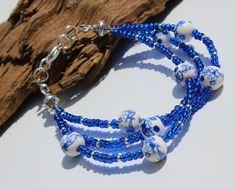 Royal Blue Bracelet Blue Bead Bracelet Pretty by PinkBeading, £15.00