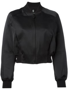 ¡Cómpralo ya!. Marcelo Burlon County Of Milan - Amarau Bomber Jacket - Women - Polyamide/Polyester/Viscose - S. Black Amarau bomber jacket from Marcelo Burlon County of Milan featuring a ribbed collar, a front zip fastening, an elasticated waistband, side pockets, long sleeves, a ribbed hem and cuffs and a multicolored embroidered logo to the rear. Size: S. Gender: Female. Material: Polyamide/Polyester/Viscose. , chaquetabomber, bómber, bombers, bomberjacke, chamarrabomber, vestebomber…