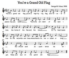 Treble in the Classroom: You're a Grand Old Flag Veteran's Day Music Activity