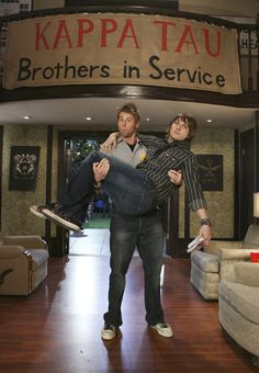 Cappie and Beaver from Kappa Tau. Greek TV Show. Best Tv Shows, Favorite Tv Shows, Movies And Tv Shows, Greek Tv Show, Scott Michael Foster, Chloe King, Freeform Tv Shows, Famous In Love, Abc Family