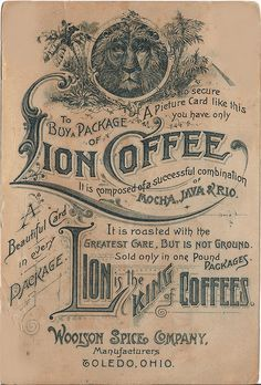 Vintage Lion Coffee Ad | Flickr - Photo Sharing!