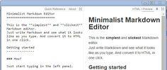 Minimalist Markdown Editor extension is perhaps the 'simplest and slickest' Markdown editor