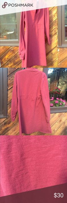⬇️$30 Go Lite long sleeve sweatshirt dress Light red v neck long sleeve cotton red dress from Go Lite, an outdoor Colorado company. Ruched sleeves Go Lite Dresses Long Sleeve
