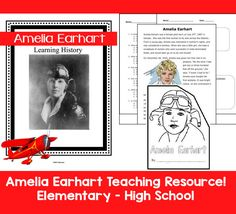 One very famous woman in History: Amelia Earhart! Make learning about Amelia FUN with these resources - Elementary through High School