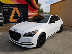 "2015 Hyundai Genesis 5.0 1) 20"" Niche Vicenza Wheels 2) New Nitto NT555 Tires 3) Full Dechrome w/Gloss Black 4) Lime Green Brake Calipers  5) Custom Reflective Brake Logos 6) Gloss Black Badges  7) Gloss Black Side Mirrors"