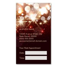 Fashionable Hair Stylist Gold Sparkle Appointment Double-Sided Standard Business Cards (Pack Of 100)