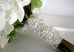 Bouquet Wrap Herb Wedding Flowers Dresses Brooch