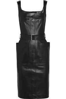 (My fav stylist aside from Nina Ricci) Alexander McQueen Glove leather dress | NET-A-PORTER