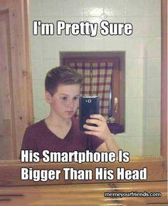His Smartphone
