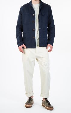 RAW Denim, Shoes and Accessories Online · CULTIZM Online-Shop - MW Chore Jacket Navy Universal Works MW Chore Jacket Navy 16112-navy