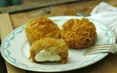 Mini-kataifi, crisp buttery cheese Arabic sweet {recipe}