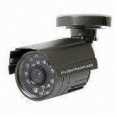 "1/3"" Color CMOS, 400TVL, fixed 3.6mm lensNTSC/PAL, with bracket, 24pcs φ5mm IR LED,60ft night vision distance, Weatherproof IP66, Aluminum camera housing."