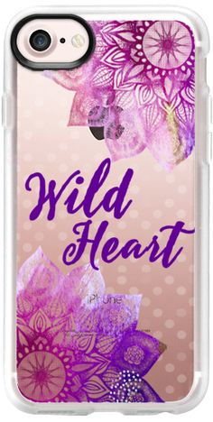 Casetify iPhone 7 Classic Grip Case - Wild Heart by Li Zamperini Art