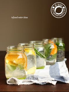 Infused Water Ideas | thevietvegan.com #water #hydration #healthy