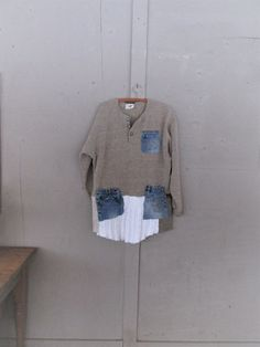 cotton+fall+winter+sweater+tunic+upcycled+by+lillienoradrygoods