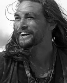 Jason Momoa ... nice to see a smiling face on a man