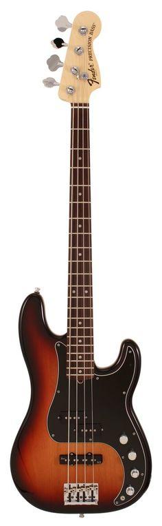 Fender American Deluxe Precision Electric Bass Guitar 3-Tone Sunburst