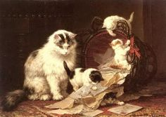 MATIN LUMINEUX: Henriette Ronner-Knip (1821-1909)