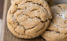 Molasses Cookies Soft Ginger Molasses Cookies - easy recipe to make soft and chewy Christmas cookies.Soft Ginger Molasses Cookies - easy recipe to make soft and chewy Christmas cookies. Brownie Cookies, Xmas Cookies, Yummy Cookies, Cookies Soft, Thumbprint Cookies, Gingerbread Cookies, Christmas Cooking, Christmas Desserts, Christmas Recipes