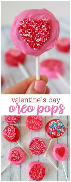 Your favorite cookie dipped in candy coating and turned into a Valentine! These OREO pops are perfect Valentine's Day classroom treat or fun snack to give to all of your special sweethearts!