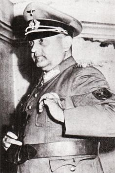Major General Dietrich von Choltitz, German Commander in Paris, 1944 National Archives
