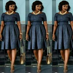 Look Jumoke Raji looks chic and style in her pleated dress Latest African Fashion Dresses, African Print Dresses, African Print Fashion, African Dress Styles, African Attire, African Wear, African Women, Modest Fashion, Fashion Outfits