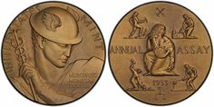 Engraved by Gilroy Roberts, this 1953 U.S. Assay Commission medal is the finest known, graded PCGS SP65, and part of the Numismatic Americana Reference Collection on display at the September 2014 Long Beach Expo.  (Photo by PCGS.)