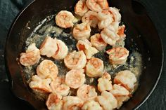 Cooking frozen shrimp is actually fast, easy and convenient. Shrimp is also a good source of lean protein; try a shrimp scampi recipe with frozen shrimp. Frozen Cooked Shrimp, Frozen Shrimp Recipes, Cooked Shrimp Recipes, Fish Recipes, Seafood Recipes, Gourmet Recipes, Cooking Recipes, Healthy Recipes, Healthy Food