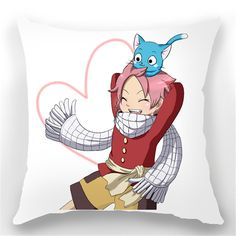 Relaxcos Fairy Tail Natsu and Happy Soft Warm Cushion Pillow *** Click image for more details.