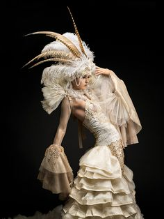 Rococo Inspired ~ Joe Gunawan. feather headdress. Le Frou Frou