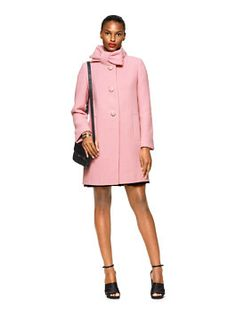 bow neck wool coat by kate spade new york