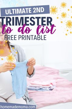 Checkout our guide on what to get done in the second trimester while you still have the energy. Free printable checklist and what you need to know during your 2nd trimester. New moms pregnancy tips.