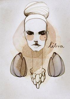 A ilustradora russa Ekaterina Koroleva retratou sua perspectiva feminina sobre cada signo do zodíaco.