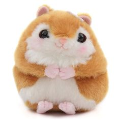 small brown squirrel with flower Momota kun with chain plush toy Japan 1
