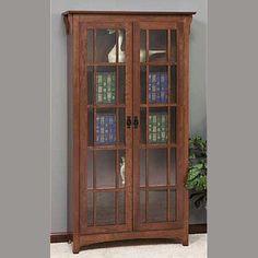 2066 Mission Double Door Bookcase