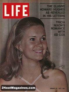Life Magazine January 22, 1971 : Cover - Tricia Nixon - her romance with Ed Cox.