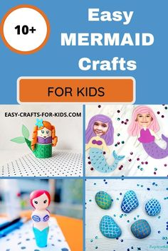 10+ Mermaid Crafts for Kids - easy kids crafts with mermaids