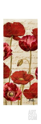Red Poppies Panel II Art Print by Patricia Pinto at Art.com