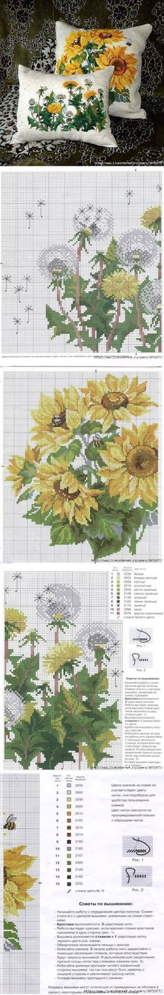 Embroidery sunflower sunflowers cross stitch 28 Ideas for 2019 Cross Stitch Pillow, Cross Stitch Needles, Cross Stitch Bird, Cross Stitch Flowers, Cross Stitch Designs, Cross Stitching, Cross Stitch Patterns, Diy Embroidery, Cross Stitch Embroidery