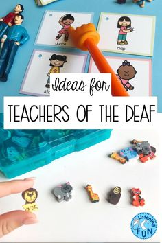 Teachers of the Deaf and Hard of Hearing, Speech Language Pathologists, Listening and Spoken Language Ideas Deaf Education Activities, Language Activities, Therapy Activities, Teaching Resources, Speech Language Therapy, Speech And Language, Speech Therapy, Deaf Children, British Sign Language