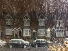 Snow falling in Birmingham November 2015