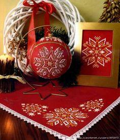 Новогодние игрушки для любящих вышивать / Вышивка / Схемы вышивки крестом