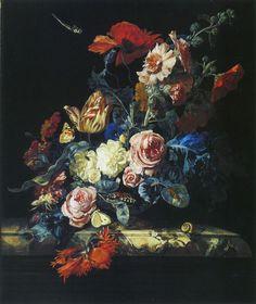 Willem van Aelst - A Vase of Flowers