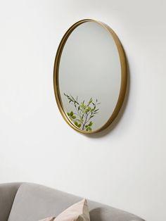 Antique Brass Round Mirror