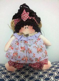 Menina borboleta , essa foi a minha primeira boneca de pano.