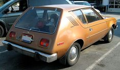 AMC Gremlin ca. 1970s; considered one of the ugliest cars; can't say I disagree; the proportions are out of whack; understand it was not that dependable mechanically either