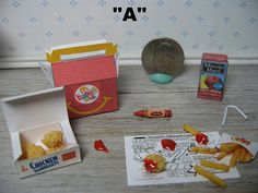 1/6 1:6 blythe food playscale miniature happy by TheDollyCottage